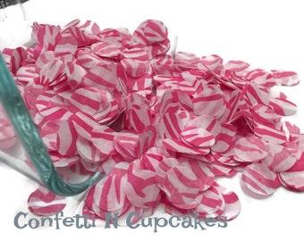 Tissue Paper Confetti, pink zebra confetti, balloon confetti, envelope confetti, circle confetti, wedding confetti, party confetti, pink dot