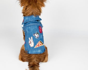 Customized Made-to-Measure Denim Jacket For Dogs