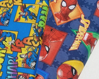 Superman or SpiderMan Cotton Fabric