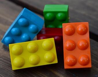 Building Block Crayons set of 40 - Building Block Party Favors - Building Block Party - Kids Party Favors - Gifts - Block Crayons