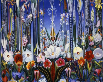 Flowers, Italy by Joseph Stella, in various sizes, Giclee Canvas Print
