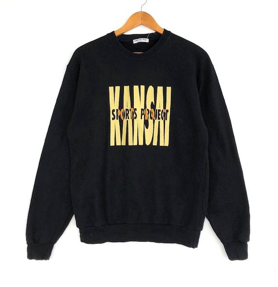 Vintage Pullover Jacket 90's Sweat Kansai Jumper Designer Black Project Colour Japanese Size Medium Sweater Man Sweatshirt wqp6Tg