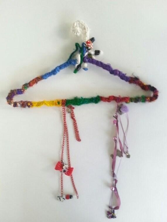 Crochet hanger jewelry hanger jewelry organizer boho