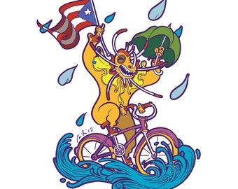 Hurricane Bike Vejigante Print