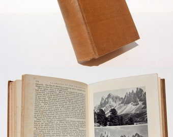 Early Mountaineering 1930s Hardback adventure climbing travel book illustrated travel Vintage antique