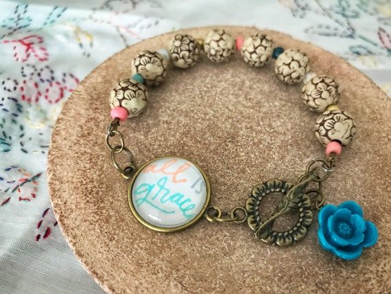 All Is Grace Beaded Bracelet