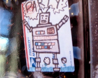 Photo Card, Robot Dance Party