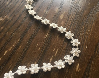 Floral lace flower girl sash