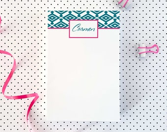 Notepad | Personalized To Do List | Custom Note Pad | DIAMOND PATTERN | To Do List Notepad | Note Pads | Customized Notepads