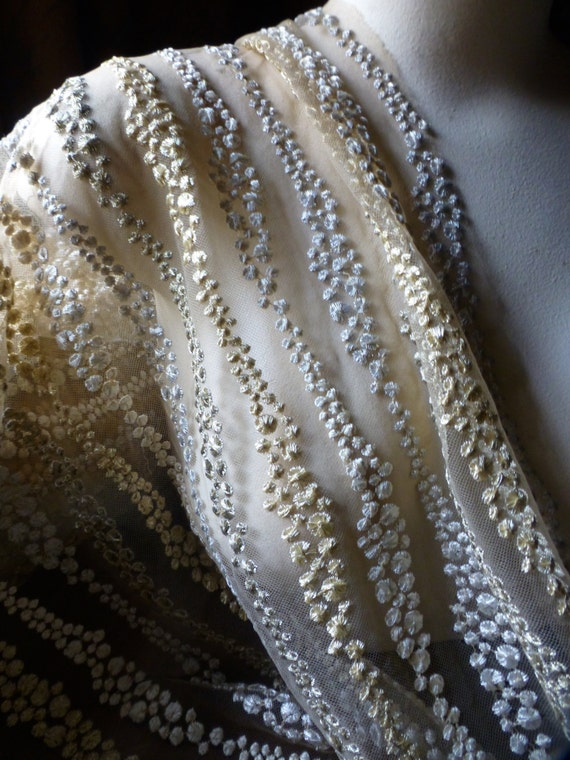 Nude Gold Amp Silver Net Fabric For Grad Gowns Bridal