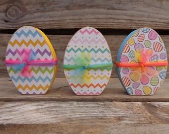 Easter Decor-  Spring Decor - Easter Egg Decor-  set of 3 Easter eggs