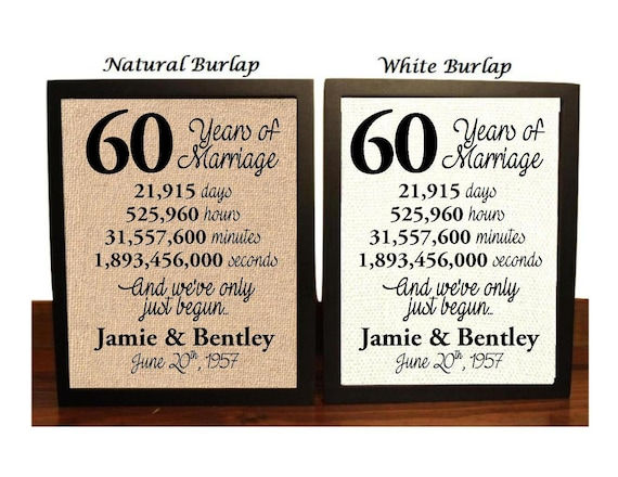 60 Years Wedding Anniversary Gifts: 60th Wedding Anniversary 60 Year Wedding Anniversary 60th