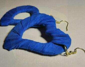 heart shape dangle hoop earrings