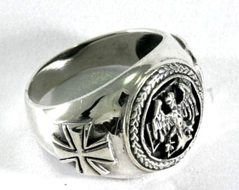German Ring Sterling Silver   --  German Ring Silver - 3752