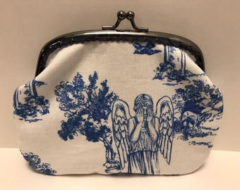 Large Dr Who Weeping Angels Toille Coin Purse