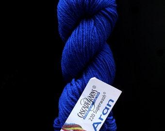 DESTASH cascade 220 superwash aran bright medium blue colonial