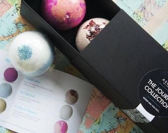 Bath bomb gift box, bath balls, bath bomb trio, pamper gifts, bath time gifts, gifts for her, bath and body gifts, bath fizz