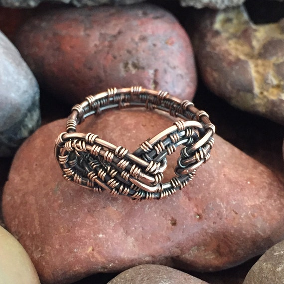 TUTORIAL-Knoten-Ring Wire Wrap-Knoten-Ring Draht weben