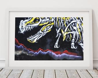 T-Rex Street Art, Graffiti Steet Art, South American Art, Graffiti Art, Urban Landscape Photography, Street Art, Contemporary Wall Art