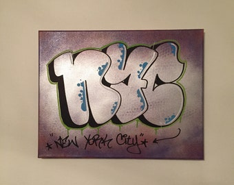 Graffiti NYC Canvas - Graffiti Art -  Graffiti Painting - Street Art Canvas - Urban Art - NYC Graffiti Art - Subway Graffiti Art