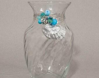 Silver Shell Vase