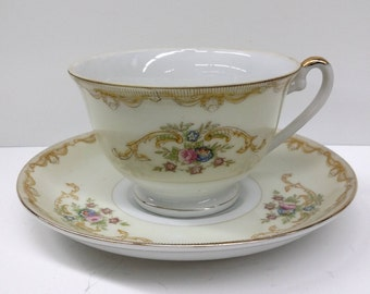 Mikado China Made in Japan Vintage Cup And Saucer Set Typical Pattern