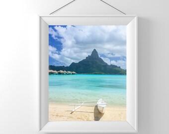 Mount Otemanu in Bora Bora - Tahiti - French Polynesia - Wall Decor - Photography