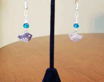 Bird Earrings, Mother's Day Jewelry, Mothers Day Gifts, Gifts for Mom, Cute Earrings