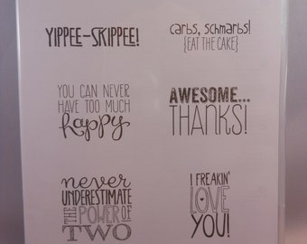 Yippee-Skipee! Rubber Stamp Sets by Stampin'Up!