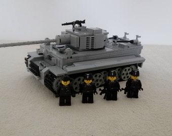 Tiger Panzer tank custom build out of LEGO® bricks