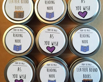 120 2oz Bookish Soy Candles - Party/Wedding Favors