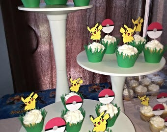 Pokemon cupcake toppers and wrappers