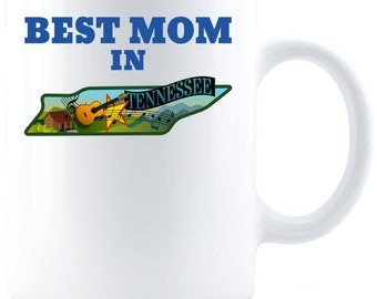Best Mom in Tennessee - Coffee Mug - White