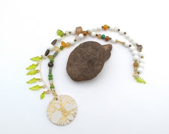 Tree by Leaf asymmetrical necklace