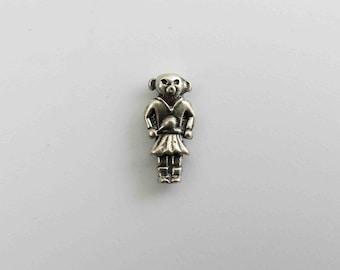 Vintage Small Sterling Silver Hopi Native American Kachina Doll Necklace Pendant #1
