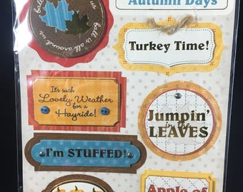 Autumn Recollections Dimensional Stickers