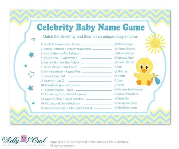 boy duck celebrity name game guess celebrity baby name game. Black Bedroom Furniture Sets. Home Design Ideas