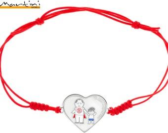 Father's Day bracelet-daddy-dad-heart bracelet, customizable, 925 sterling silver, my superhero, custom jewelry