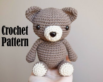Crochet Amigurumi Pattern: Oliver the Bear, Stuffed Animal, Crochet Toy, Teddy Bear Crochet Pattern