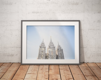 lds salt lake temple horizontal, lds temple print, digital download, instand download, lds inspirational, lds decor