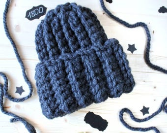Chunky hat Super Chunky Winter hat Womans hat Grey Hat Wool hat Warm hat Gray hat