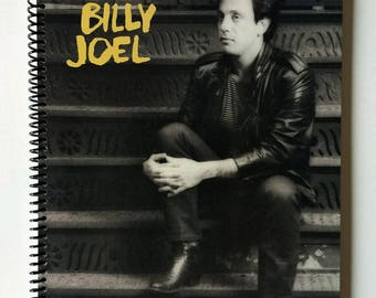 """Billy Joel Spiral Notebook Hand Made from Upcycled Vinyl Record Album Cover """"An Innocent Man"""""""