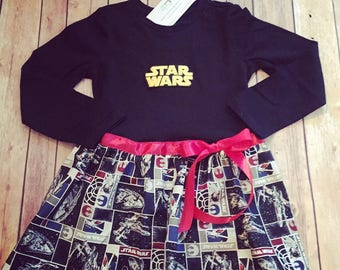 Star Wars Dress, Tshirt Dress, Girl's Star Wars Dress, Storm Trooper, Little Girl Casual Dress