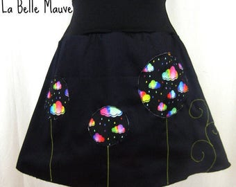 Skirt bubbles multicolored clouds
