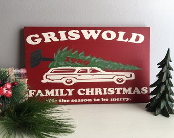 Christmas Signs - Christmas Vacation - Griswold - Christmas Wood Signs - Christmas Decorations - Christmas Decor