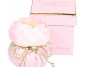 Flower in pink silk