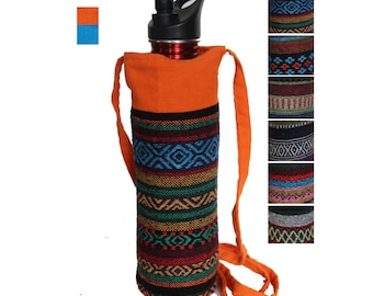 Water Bottle Holder / Carrier /Bag up to 1 liter Thai Hill Tribe Cotton