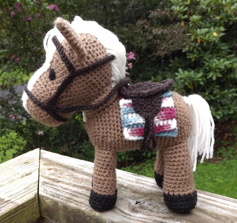 Horse Amigurumi Pattern With Removable Saddle Saddle Blanket