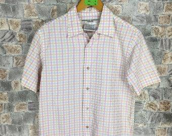 Katharine Hamnett London Oxfords Medium Vintage Katharine Hamnett Checkered Multicolour Buttondown Shirt Size M