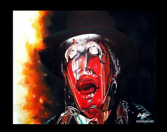 "Print 8x10"" -  Melting Nazi Face Scene- Indiana Jones Raiders of the Lost Ark Adventure Harrison Ford 80s Fantasy Pop Art Dark Art Glasses"